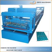 Metall-Dachziegel Pressen Ausrüstung / Trapez-Wand-Panel Stahl Kalt-Walze Formmaschine