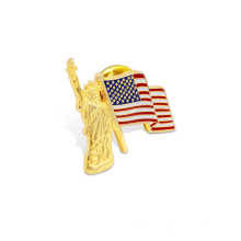 Pin de la solapa del partido, insignia impresa de la desviación de la bandera (GZHY-YS-010)