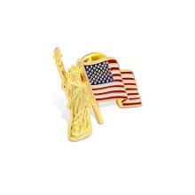 Спичка штыря отворотом, напечатанный значок смещения флага (GZHY-YS-010)