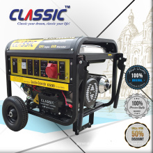 CLASSIC 6KW Small Power Gensets, Easy Move With Wheels Portable Generators For Home, Powerful New Model Gasoline Generators