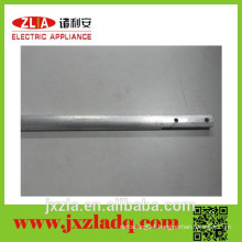 Tooling aluminum tube profile with drilled hole