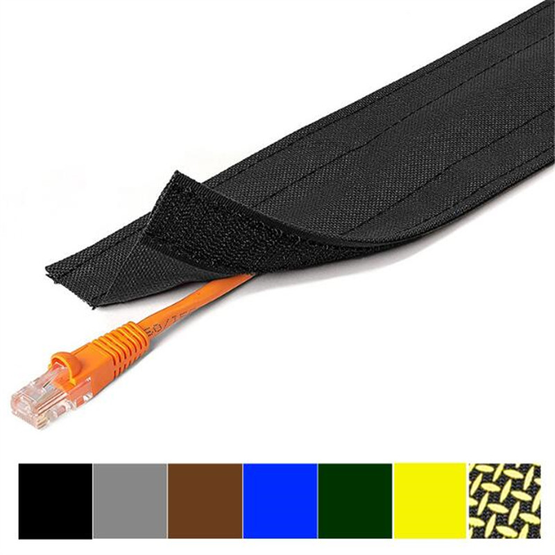 Velcro hook loop cable straps