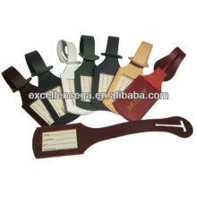 Étiquettes à bagages en vrac en cuir