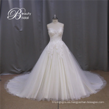 Modesto de encaje vestido de boda vestido de novia vestido