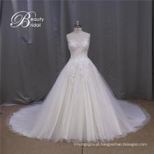 Laço modesto vestido de casamento vestido de noiva vestido
