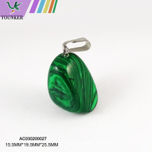 Charm Gemstone Pendants with Brass Clasps
