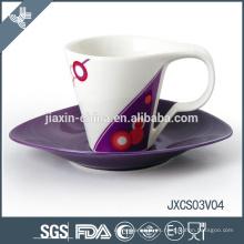 Taza de café artesanal de diseño taza pequeña taza de café porcelana set de taza