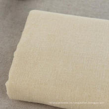 10s 70% Algodón 30% Tejido de lino Tejido verde para la ropa