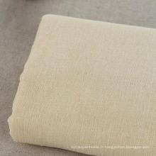 10s 70% Coton 30% Tissu de lin Tissu vert pour vêtement