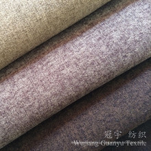 Home Textile Linen Look and Touch Polyester Fabric for Sofa