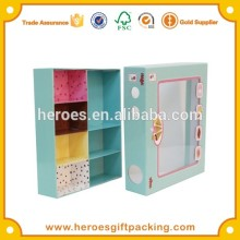 Trade Assurance Apparel Garment Underwear Socks Sorted Usage Paper Box With Clear Plastic PVC Window
