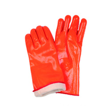 Foam Liner Work Glove with Fluorescent PVC Fully Coated