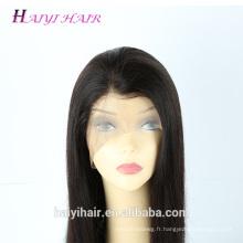 Perruque 100% soyeuse de cheveux humains brésiliens de Remy soyeux droite 100% avec des cheveux de bébé