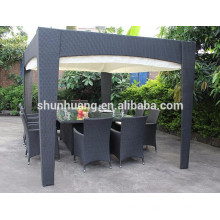 Outdoor rattan furniture wicker dining sets rattan chair for 10 people