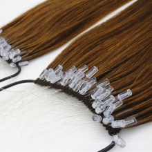 2020 New Arrival Hot Selling Human Hair Virgin Hair Remy Hair Product 18inch 20inch Brown Color Easy-Pull Fishsilk Knot Thread Hair Extensions