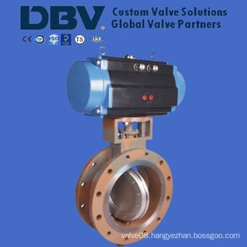 Pneumatic Flange Wholly Metal Seat Butterfly Valve