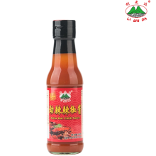 Super spicy 160g chili sauce in glass bottle