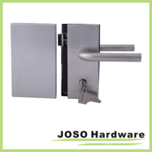 Center Lock & Strike for Interior Tempered Glass Doors