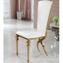 Chaise en marbre en acier inoxydable sur saled XYN2802