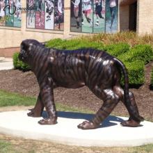 Statue de jardin en bronze extérieur tigre à vendre