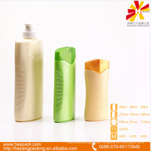 800ml cosmetic industrial oval shape pe plastic bottle