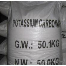 Carbonato de potasio al 98% para grados industriales