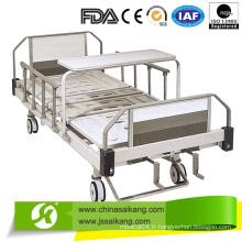 Lit d'hôpital manuel de plate-forme de lit d'ABS pour la salle de malade avec des roulettes