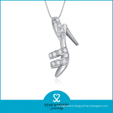 2014 New 925 Silver Shoe Shaped Necklace (SH-N0080)