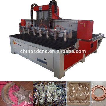 Multi spindle cnc wood carving machine/ hot sale jinan woodwork cnc machine