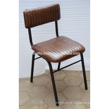 Industrieller Leder-Baquet-Stuhl Neuer Entwurfs-echtes Leder-Sitz