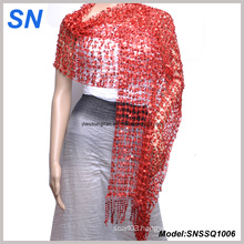 Women′s Sequined Paillette Evening Wrap Scarf Shawl