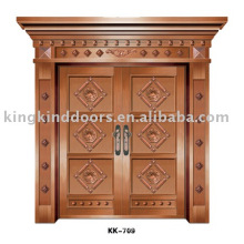 Aluminum Door KK-709 For Big Steel Door With Copper Paint