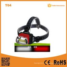 T04 COB Highlight Headlight ABS Matériau LED Headlight 1W LED Headlamp