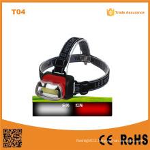 T04 COB High Power Headlight ABS Material LED Headlight 1W LED Headlamp