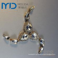 Moda acrílico cristal outono salto calcinha removível grampo fivela