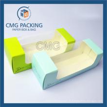 Boîte à gâteau transparent pour vitre en PVC avec impression (boîte à gâteau CMG-018)