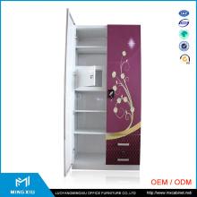 2 Door Metal Cabinet / Steel Locker Double Door Wardrobe