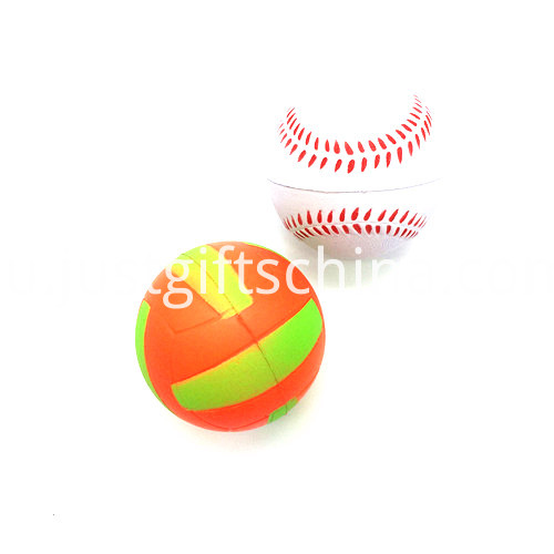 Promotional Volleyball Shaped Stress Balls1