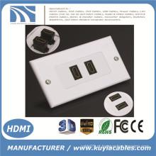 2 Portas HDMI 1080P Placa de Face de Parede Cobertura do Painel Extensor de Saída Externo 3D Branco
