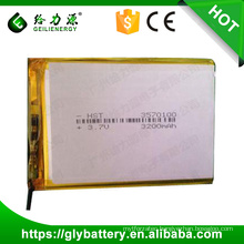 Li-polymer Battery rechargeable 3.7V 3200mah
