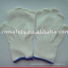 Gant polyester demi-doigt de calibre 13