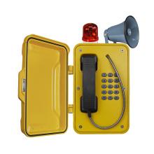 Téléphone de pagination industrielle, téléphone de sécurité contre les mines, téléphone tunnel avec corde et haut-parleur