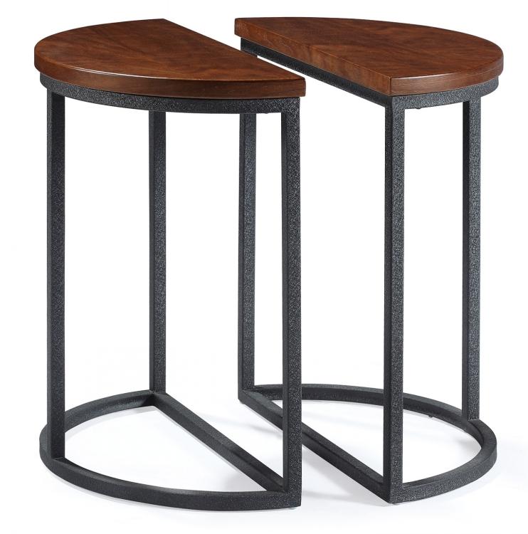 Classic Metal Leg Round Restaurant Woodtop Coffee Tables1