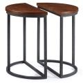 Mesas de centro de madera del restaurante redondo clásico de la pierna del metal