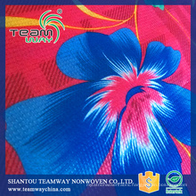 RPET Colorful Printed Stitchbond non woven fabric 210cm