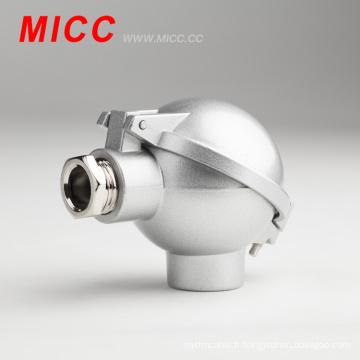 MICC NAA alliage-aluminium boîte de jonction thermocouple tête vis distance 33mm