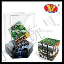 5.5cm 5.6cm plástico oem custom puzzle magia promocional jogo brinquedos educativos