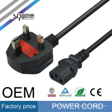 SIPU high quality uk power cord plug wholesale copper wire electric computer power cable