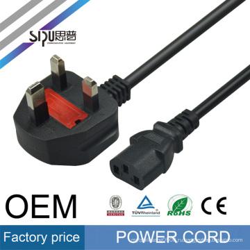 Высокоскоростной компьютер кабель СИПУ питания для оптовая торговля ноутбук AC лучшей цене стиль Великобритании шнур питания