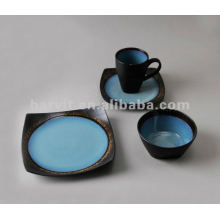 stoneware 16pcs reactive glaze dinnerware set